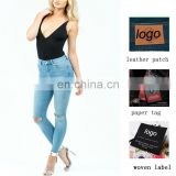 OEM OED high wasit women jeans busted knee lightweight skinny ripped Jeans women leggings factroy wholesale denim