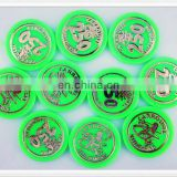 Promotion gifts 1 color printing custom logo token coins