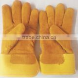 leather hand gloves/ leather work glove/ cow leather working gloves/ manufacturing in China cheap price