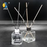 135ml square shape reed diffuser glass diffuser bottle with aluminium cap for home decoration