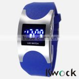 Best selling simple style watch, cheap price silicone led digital wristwatch,various colors to choose