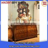 American country mirror furniture dressing table,wall mounted mirror, dresser cabinet design bedroom sets                                                                         Quality Choice