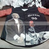 Sublimation printed baseball shirts / All over printed baseball shirts / Custom baseball shirts