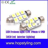 SMD 5050 LED Festoon Light c5w smd 5050 with heat sink 31mm 36mm 39mm 41mm led car bulbs reading lamp