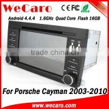 Wecaro Android 4.4.4 WIFI 3G car navigation dvd player for porsche cayman car mp3 player multimedia system 2003-2010