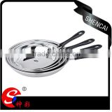 korean kitchen tool set wok round frying pan /saucepan set with long bakelite handles