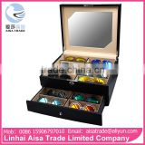 Wholesale China Supplier Double Layer Eyeglass Display Cabinet With Lock And Mirror