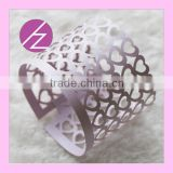 Napkin paper for wedding laser cut Napkin Ring MJ-25 Haoze Brand