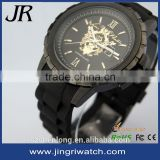 fathers day gifts luxury brand watch 10atm silicone stainless steel back water resistant watch