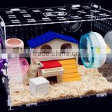 Fancy acrylic hamster cage cute hamster house and box acrylic pets box and carriers                                                                         Quality Choice