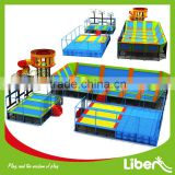 With Spider Tower Blue Color Safe High Quality Big Commercial Trampoline For Adults Indoor Trampoline Park