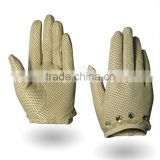 HIGH end online shop tight full grain goatskin beaded and lace leather winter glove