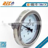 Back connection bimetal thermometer water pipe temperature gauge