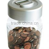 Ningbo 2014 wholesale cheap plastic piggy bank tin can