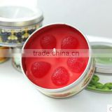 small metal wholesale candle tin box with lid,scented candle in tin box/decorative tin boxes with lids
