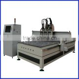multi-spindle carving machine with tool change system