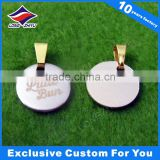 Chinese manufacturer design custom metal blank military dog tag Blank Dog Tags with Beads Necklace