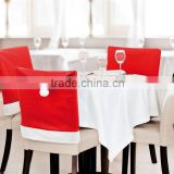 Fast Delivery White Red Felt Christmas Chair Covers