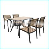 New design wood plastic composite tables and chairs ,kitchen dining room furniture made in China AW-901T,AW-069C