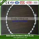 stainless steel and HD galvanized BTO-30 razor wire