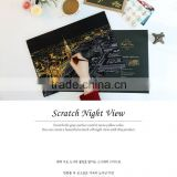 Wholesale new trendy after secret garden coloring books scratch night view new series adult DIY picture with pen