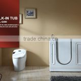 2016 Hot sale CE approved 1 person bathtub indoor small jetted tub