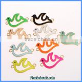 Wholesale Custom Made Gold Bottom Peace Dove Bracelet Connector Charms OMC-055J