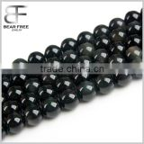 6-18mm Natural Round Black Rainbow Obsidian Beads Strand Jewelry Making Beads