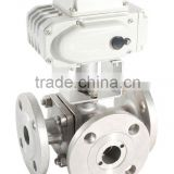3 way 220v electric 3 way control valve 1/2-2 inch stainless steel T flow L flow