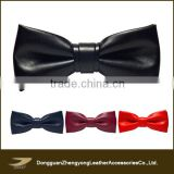 Custom fashion soft leather boys bow ties