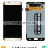 replacement LCD touch screen digitizer assembly spare parts for samsung galaxy s6 edge plus silver or gold