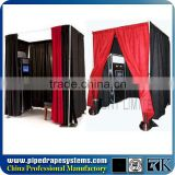 Portable Photo Booth Pipe And Drape Stands Photo Booth Enclosure
