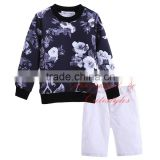 Best Selling Cutestyles Boy Ink Painting Printing Clothing Set Sweatshirt And Pants Kids Suits O Neck Collar Tops CS90312-020L