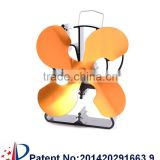 4 blades Gold color Wood burning/Gas Stove Fan
