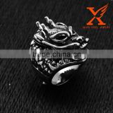 In StockBest Wholesale Rings Blast Sales Large Silver Dragon Ringl Stainless Steel Polished Ring for Gothic Tribal Biker's