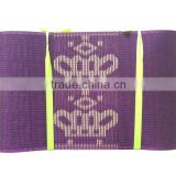 Purple nigeria aso oke for party / nice design oso oke / crown pattern nigeria aso oke for party
