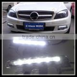 White LED DRL Daytime running light Day Fog Light DRL For Mercedes Ben z C Class W204 2008-2011