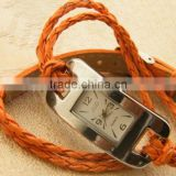 leather watches lady cord bracelet rope bracelet watch