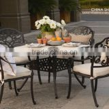 NEW! outdoor furniture cast alum table and chair