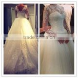 (MY2295) China Custom Made Sexy High Neck Low Back Bridal Gowns Lace Beaded Tulle Alibaba Wedding Dresses Patterns
