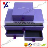 2013 new arrived! jewelry box paper jewelry packaging box with ribbon foam insert rigid drawer box display box free sample
