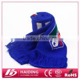 2015 factory wholeales cheaper knitted football term scarf,100% men Acrylic scarves ZQWJ006