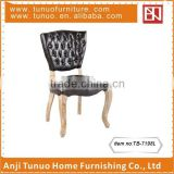 antique tufted dining chair black dining room furniture with buttons on the back TB-7198L