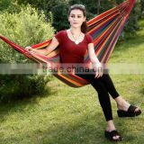Hot sale Double/single Hammock Cotton Rope Outdoor Swing Camping Hanging Canvas Bed/Portable Outdoor Camping Hammock