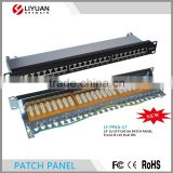 LY-PP6A-17 Made In China cat6a patch panel T568 A, T568B wiring pattern Stp cat 6 patch panel