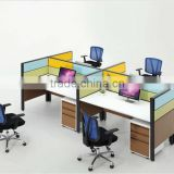 OEM 70 MM thickness style steel partition/Cube Solutions Mid Height Call Center Cubicles, Pod of 4