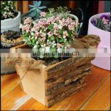 square birch bark baskets pot