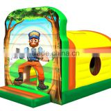 Funny Commercial inflatable Jungle bounce house, air bouncer inflatable trampoline