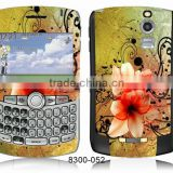 Color Skin Sticker for Blackberry 8300 PVC Skin Guard Decal Cover for Front and Black Skin