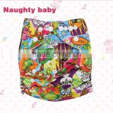 One size Printed Baby pocket Cloth Diapers, napppies